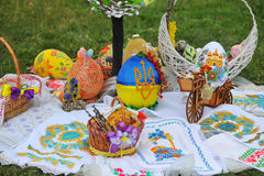 April 06, 2017 Exhibition  Easter eggs in Uzhgorod in Ukraine Stock Image