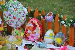 April 06, 2017 Exhibition  Easter eggs in Uzhgorod in Ukraine Stock Images