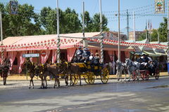The April fair of Seville Stock Image