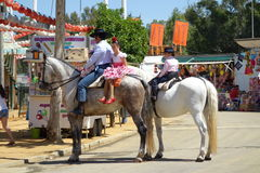 The April fair of Seville Stock Photos