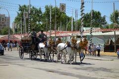 The April fair of Seville Stock Photos