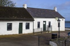 17 April 2018 The famous Irish cottages at Cockle Row in Groomsport Harbour in County Down Northern Ireland. A popular destination Royalty Free Stock Image