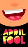April Fool Carte de cadeau Photographie stock libre de droits