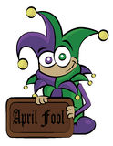 April fool. A cute little guy, for Arpil fools day Royalty Free Stock Photos