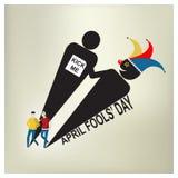 April Fool Day, illustrazione di vettore Immagine Stock Libera da Diritti
