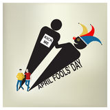 April Fool Day, Vektorillustration Lizenzfreies Stockbild