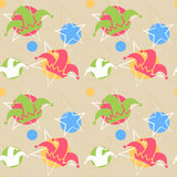 April Fool`s day background. Seamless pattern with jester hat. April Fool`s day background. Vector illustration Royalty Free Stock Photo