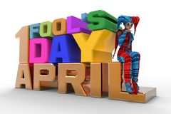 April Fool's Day Clipart Royalty Free Stock Photo