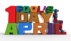 April Fool's Day Clipart Stock Image