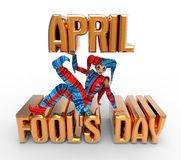 April Fool's Day Clipart Royalty Free Stock Images