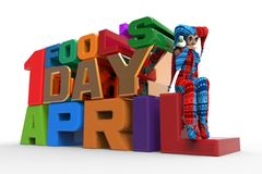 April Fool's Day Clipart Royalty Free Stock Photos