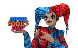 April Fool's Day Clipart. 3D rendering clipart celebrating april fool's day Stock Photos