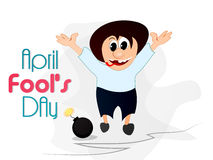 April Fool's Day. Creative  abstract for April Fool's Day with creative design and colour combinations Stock Photography