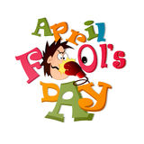 April Fool's Day. Creative  abstract for April Fool's Day with creative design and colour combinations Royalty Free Stock Photos