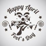 April fool's day emblem Royalty Free Stock Photo