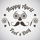 April fool's day emblem Royalty Free Stock Images
