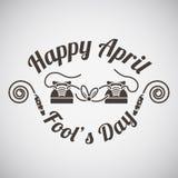 April fool's day emblem Stock Images