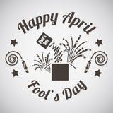 April fool's day emblem Royalty Free Stock Photos
