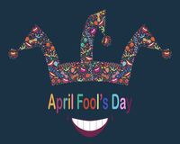 April Fool's Day.Funny background with jester hat Royalty Free Stock Photo