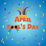 April Fool`s Day funny texture with coloring confetti.  illustration.EPS 10.  Royalty Free Stock Photo