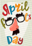 April fool's day poster. Vector illustration Royalty Free Stock Photo