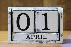 April Fool's Day. April 1 is the day of practical jokes and gags Stock Images