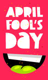April Fool`s Day. Smile Royalty Free Stock Photo