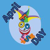 April fool s day, Typography. Colorful, funny poster Royalty Free Stock Image