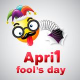 April fool`s day, Typography, Colorful design template , vector. Illustration Royalty Free Illustration