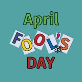 April fool s day, Typography. Colorful, funny poster Royalty Free Stock Photography