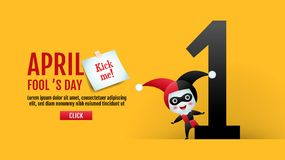 Free April Fool`s Day, Typography, Colorful, Vector Illustration. Royalty Free Stock Images - 140194779