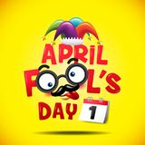 April fool`s day, Typography, Colorful, vector illustration. April fool`s day, Typography, Colorful, vector illustration, lettering text for greeting Royalty Free Stock Images