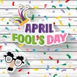 April fool`s day, Typography, Colorful wood design template ,  illustration. Illustration. EPS 10 Royalty Free Illustration