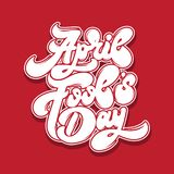 April fool`s day. Vector handwritten lettering. Template for card, poster, banner, print for t-shirt, label Royalty Free Illustration