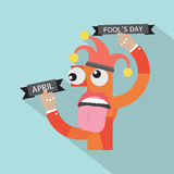 April Fool's Day. April Fool's Day Vector Illustration Royalty Free Stock Photo