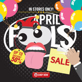 April Fool Sale Banner Photographie stock libre de droits