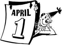 April Fools Clown illustrazione di stock