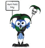 April Fools Day. Comical April Fools Day message isolated on white background Royalty Free Stock Image