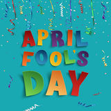 April Fools Day background template. Royalty Free Stock Photo