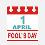 April Fools Day. Calendar icon 1 april Fools day Stock Image