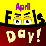 April Fools day Cartoon text. Banner Royalty Free Stock Image