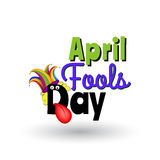 April Fools day Cartoon text. Template for greeting card and promotion posters Royalty Free Stock Photo