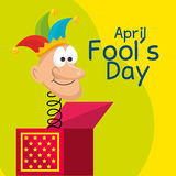 April fools day celebration card Stock Photography