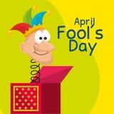April fools day celebration card. Vector illustration design stock illustration