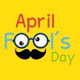 April fools day celebration card. Vector illustration design Stock Photo