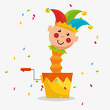 April fools day celebration card. Vector illustration design royalty free illustration