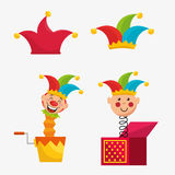 April fools day celebration card Stock Images