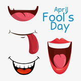 April fools day celebration card. Vector illustration design Royalty Free Stock Photography