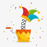 April fools day celebration card Royalty Free Stock Image