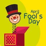 April fools day celebration card Stock Photos